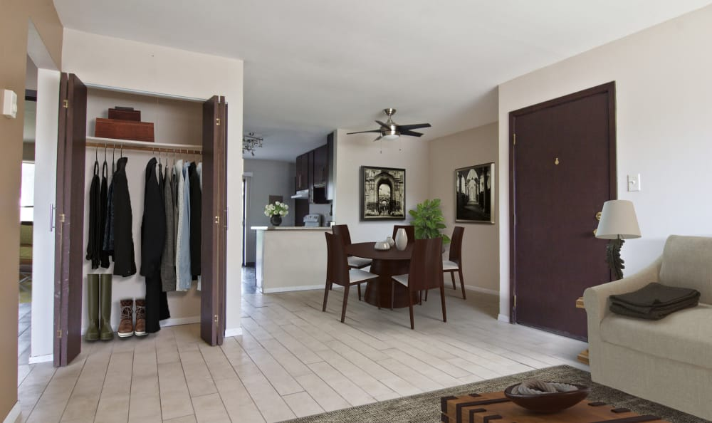 Open floor plans at The Flats at Gladstone