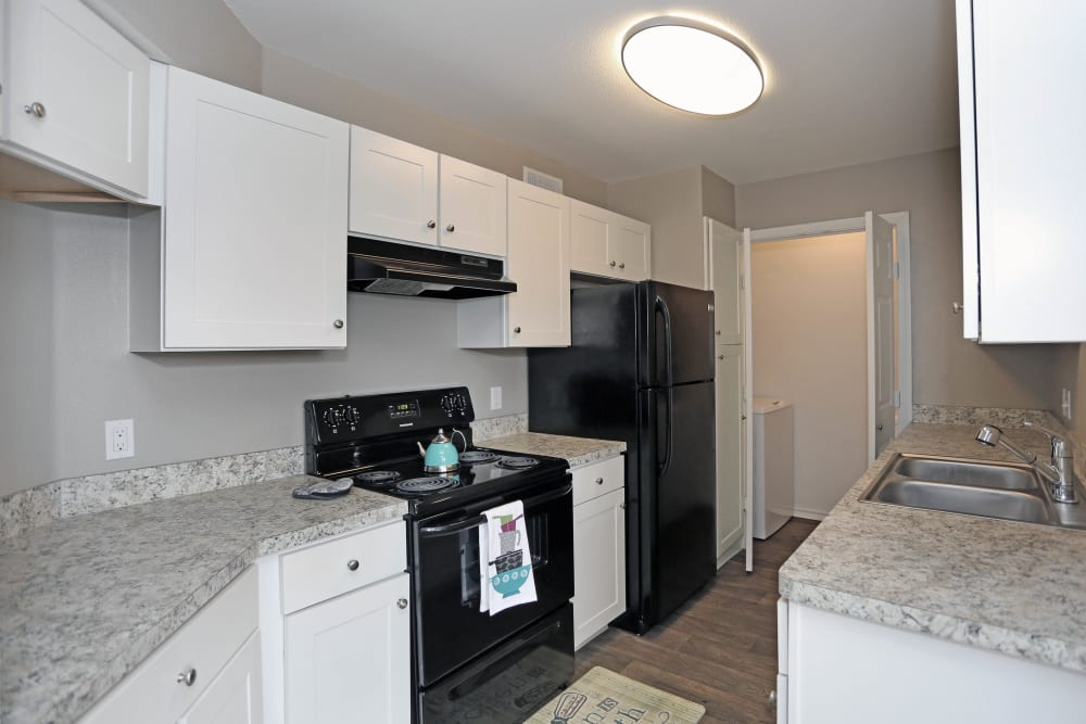 Bright, modern kitchen at 1303 Main in Duncanville, Texas