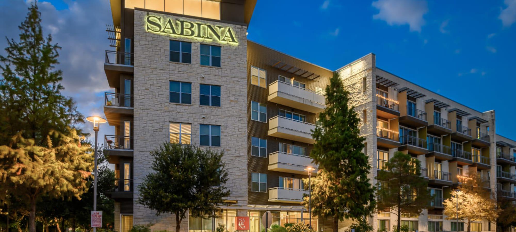 Exterior of Sabina in Austin, Texas