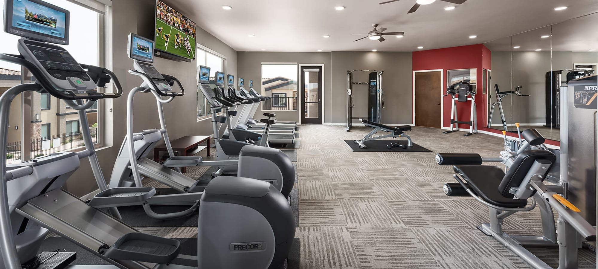 Community gym at The Maxx 159 in Goodyear, Arizona