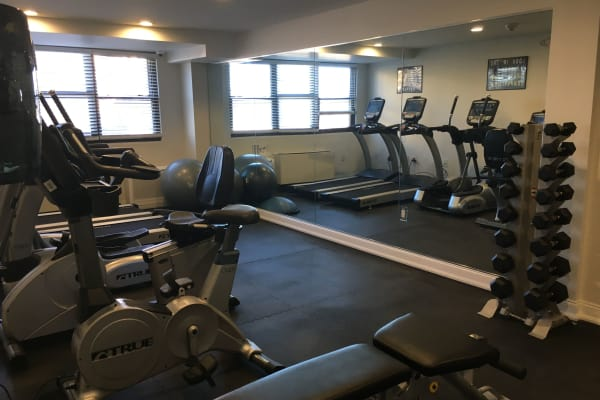 Fitness center at Carlyle Towers in Caldwell, NJ