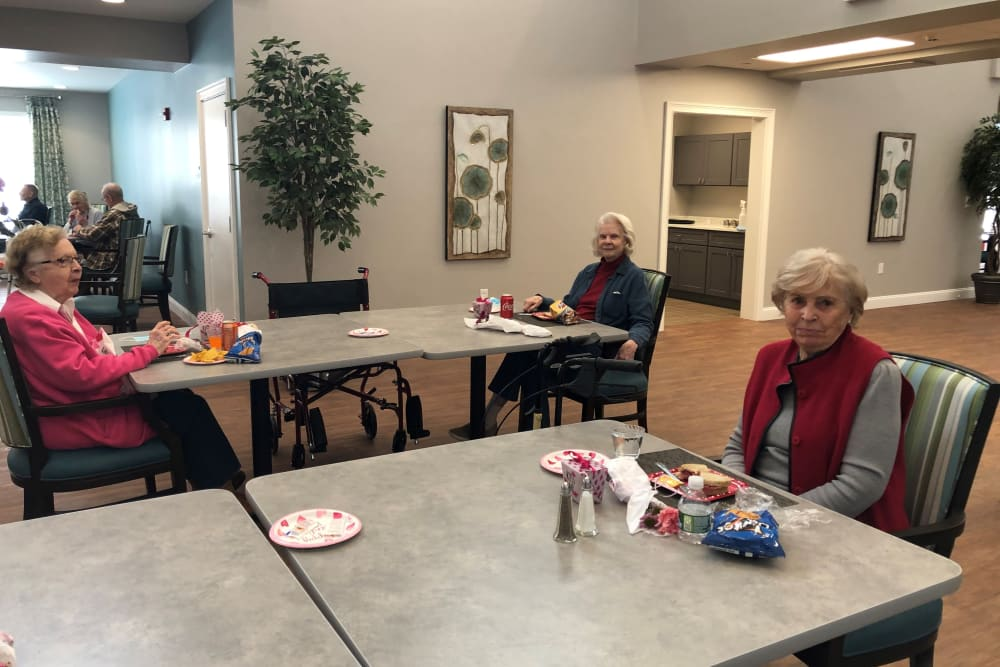 Resident's at Valentine's Day celebration at Keystone Place at Wooster Heights