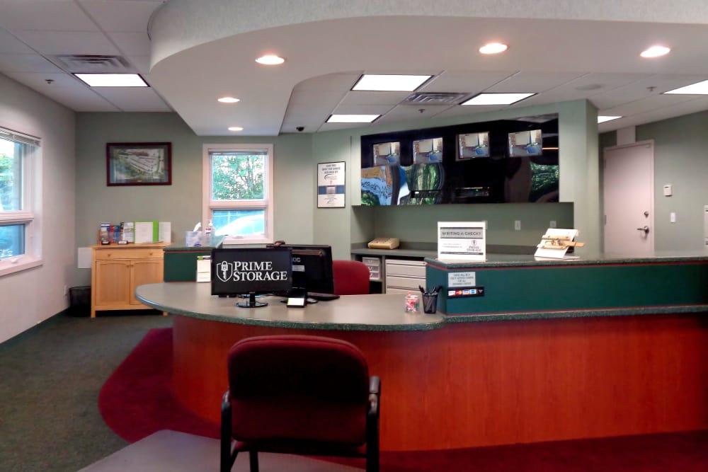 Leasing desk at Capital Self Storage in Harrisburg, PA