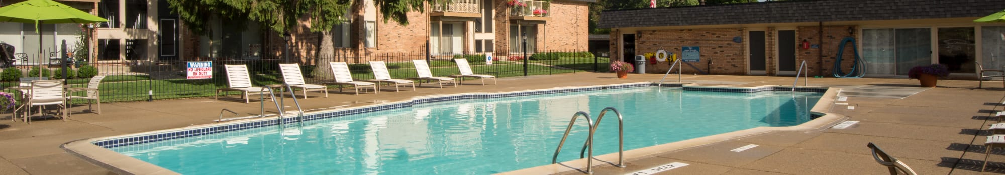 Request a tour at Kensington Manor Apartments in Farmington, Michigan