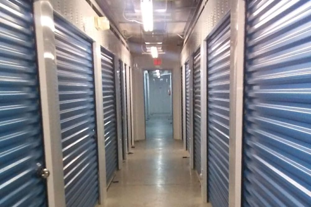 Interior storage units at Store It All Self Storage - Loop 20 in Laredo, Texas