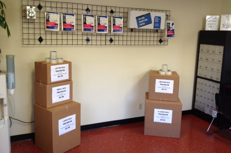 Storage supplies for sale at BA Self Storage in Los Angeles, California