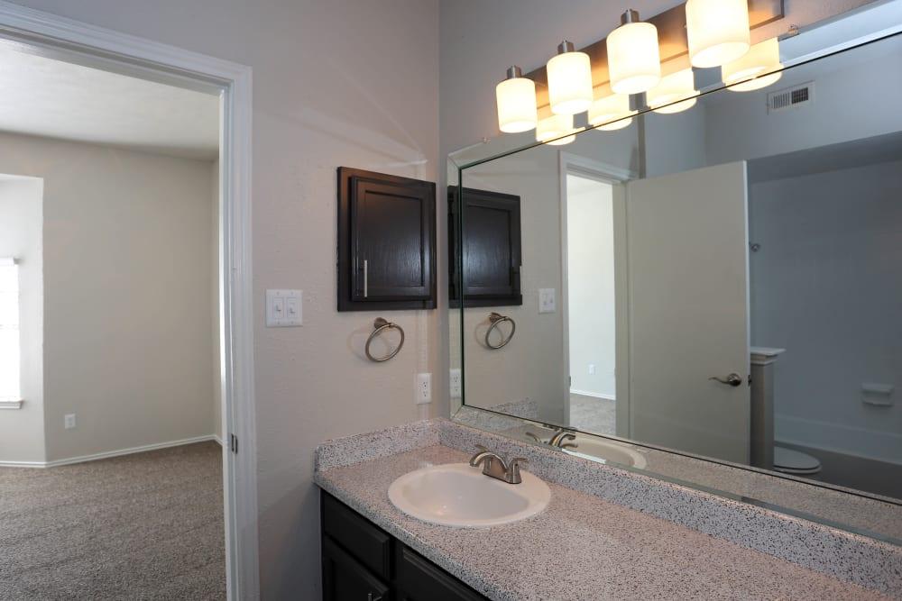 Clean bathroom at 1303 Main in Duncanville, Texas