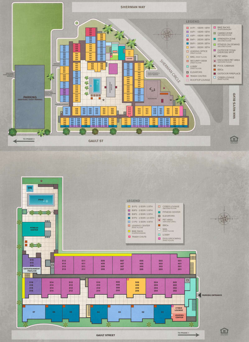 Site plan for IMT Sherman Circle in Van Nuys, California