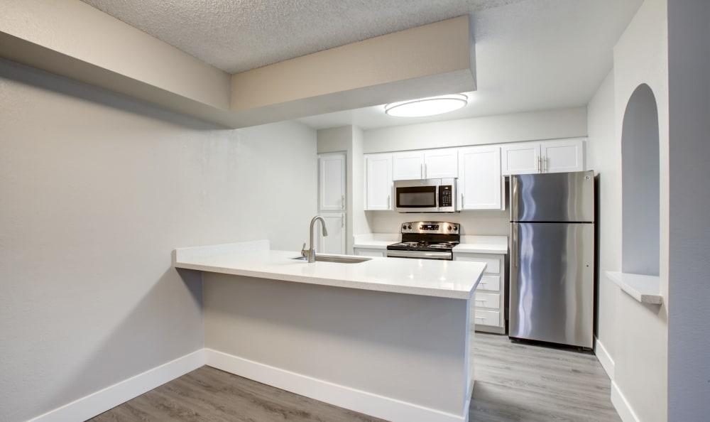 Modern kitchen at apartments in Tempe, Arizona