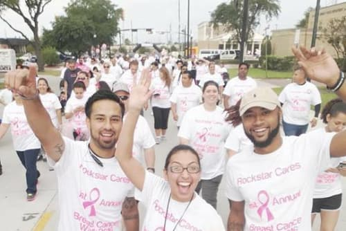 Deerbrook Forest Apartments walk for the cure
