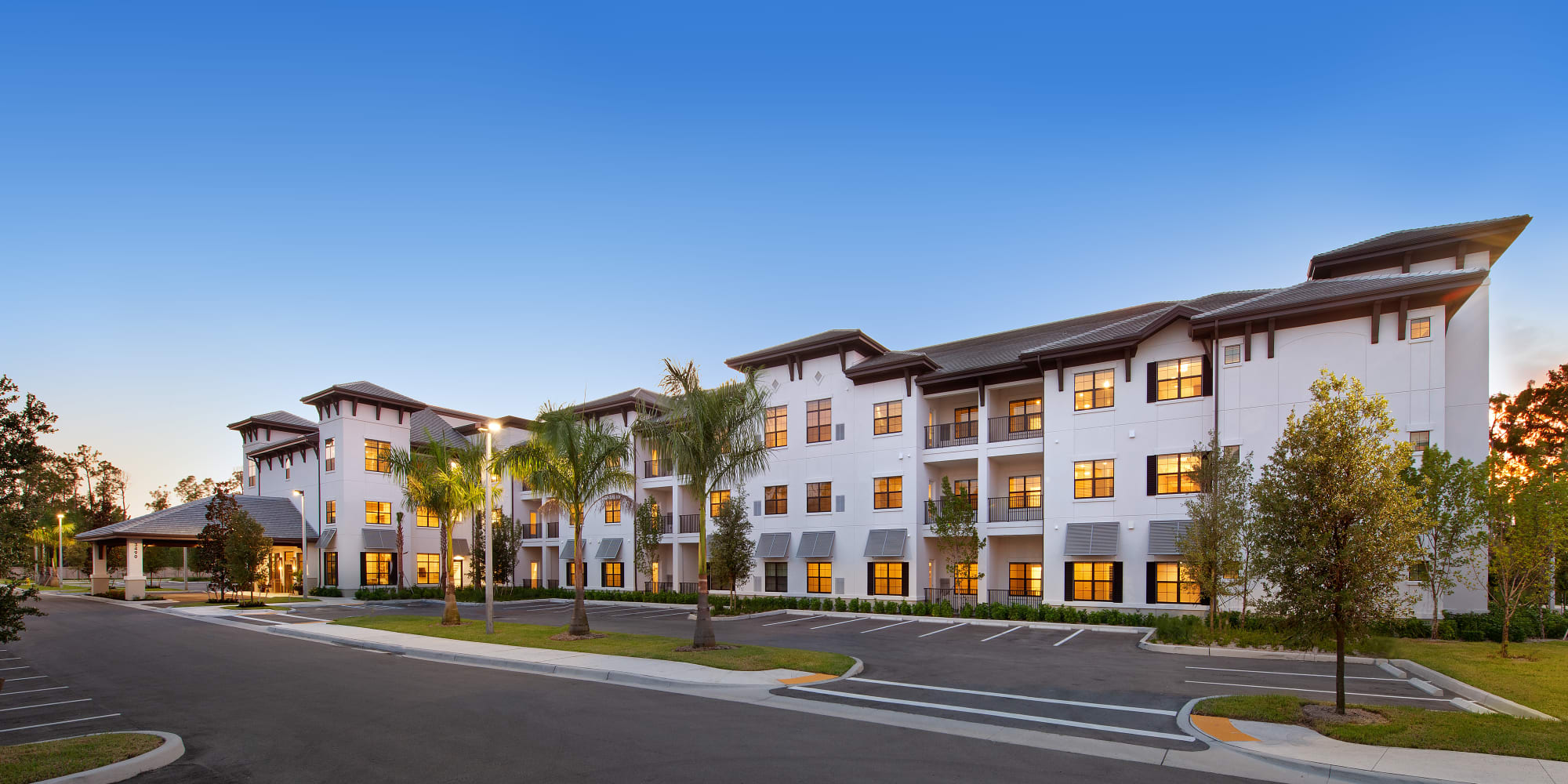 Building facade at Keystone Place at Four Mile Cove in Cape Coral, Florida