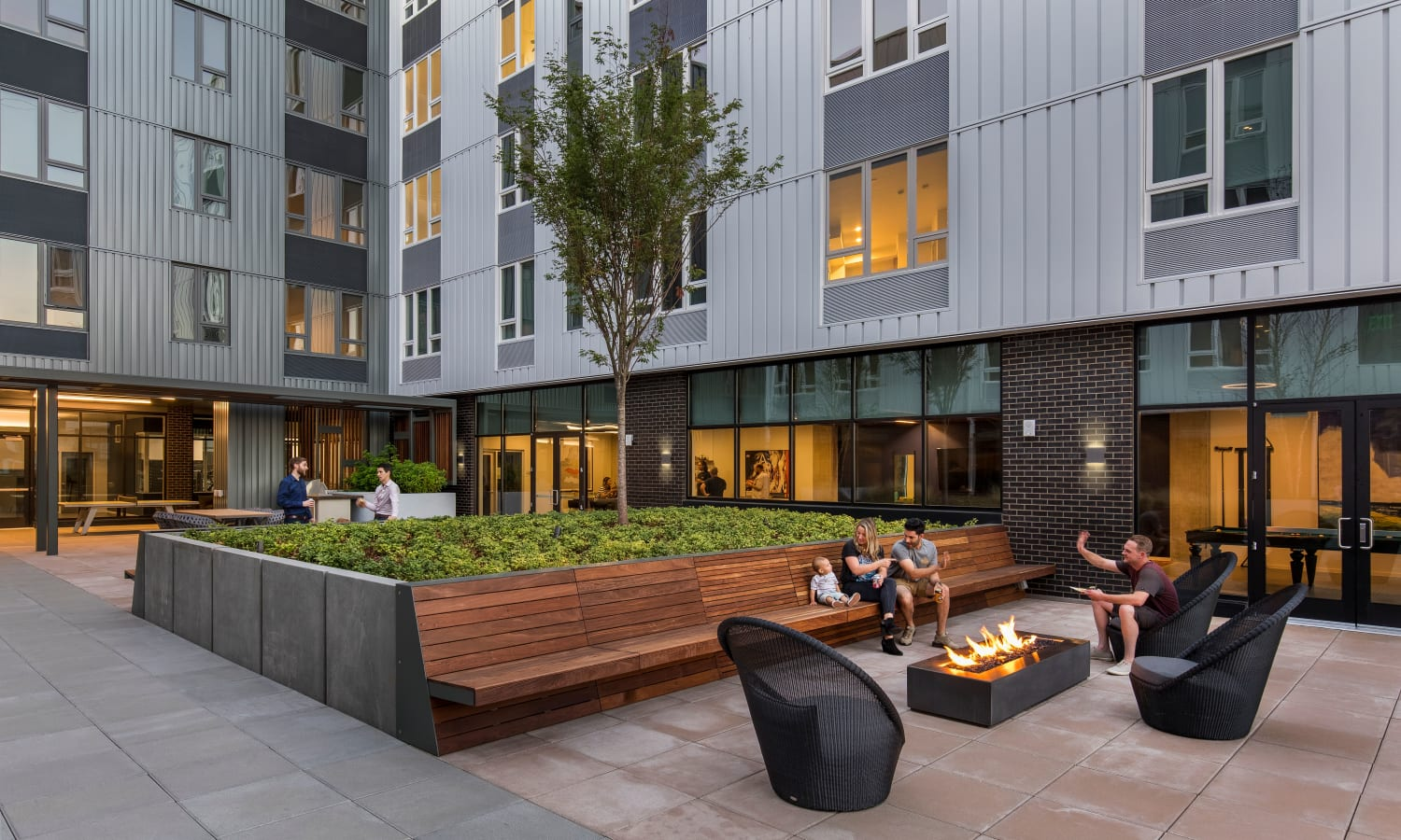 Luxury apartments with a private patio in Portland, Oregon