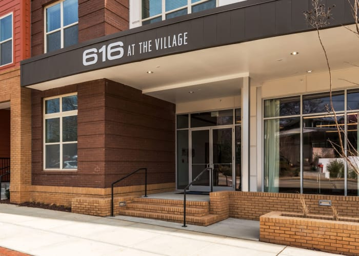 Exterior of 616 at The Village in Raleigh, North Carolina