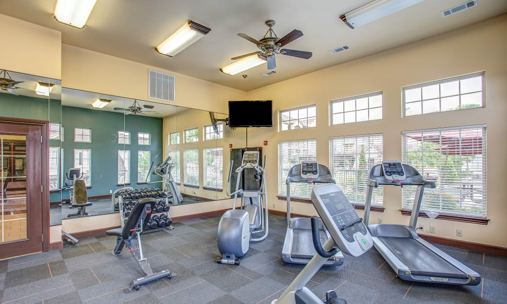 The gym at Tuscany Hills in Tulsa, Oklahoma