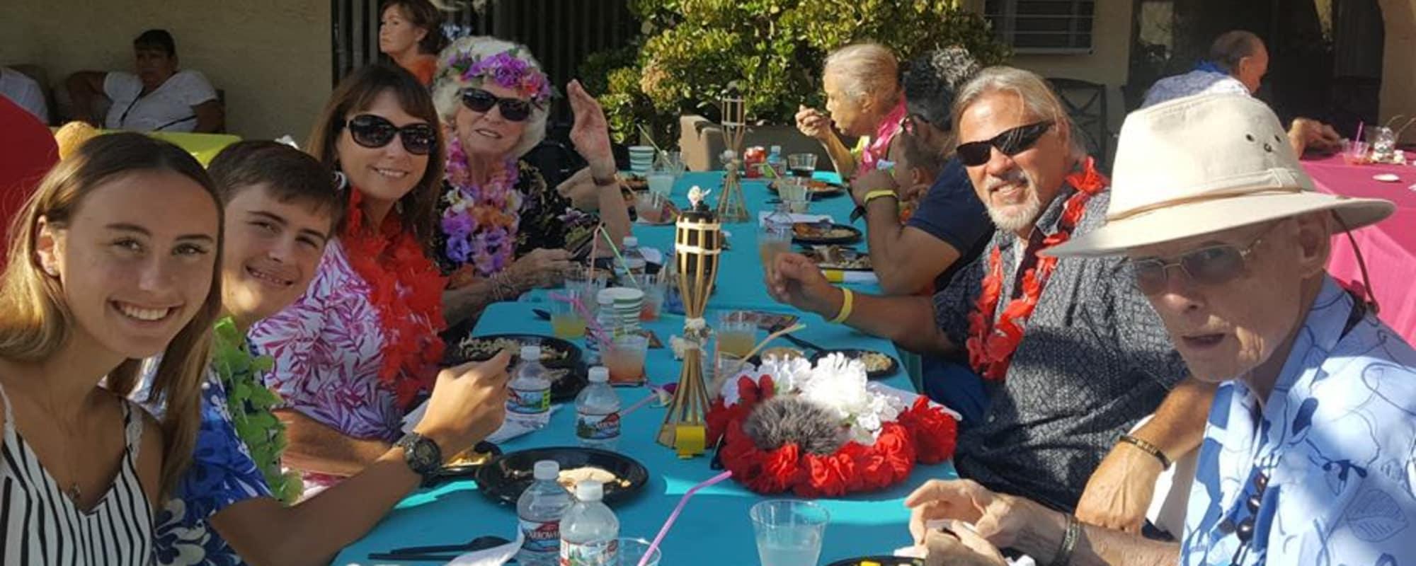 Parties at Huntington Terrace in Huntington Beach, California