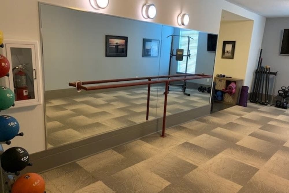 Exercise room with Ballet Bar at Spyglass