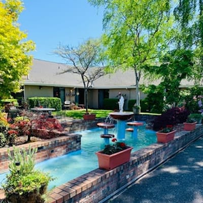 Pool for residents at Cap Sante Court Retirement Community in Anacortes, Washington