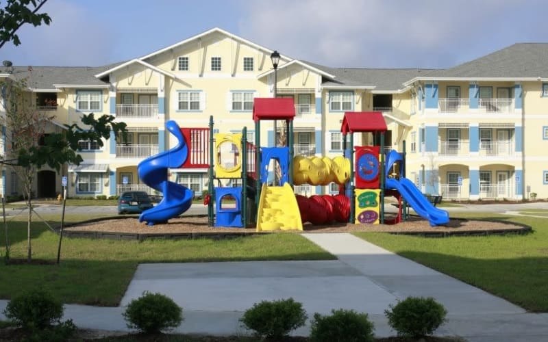 Playground area at Lakeside Apartment Homes in Slidell, Louisiana