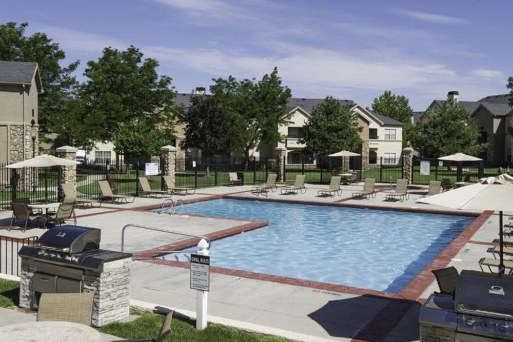 Beautiful pool at Alpine Meadows Apartments in Sandy, Utah