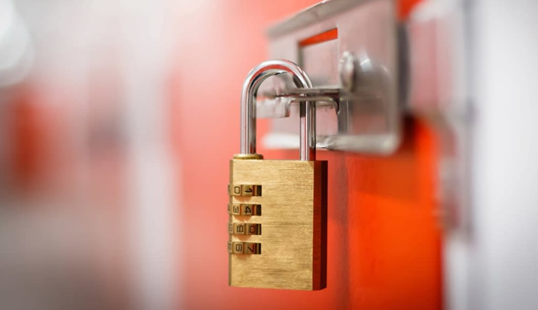 Locked unit at Prime Storage in Colonie, New York
