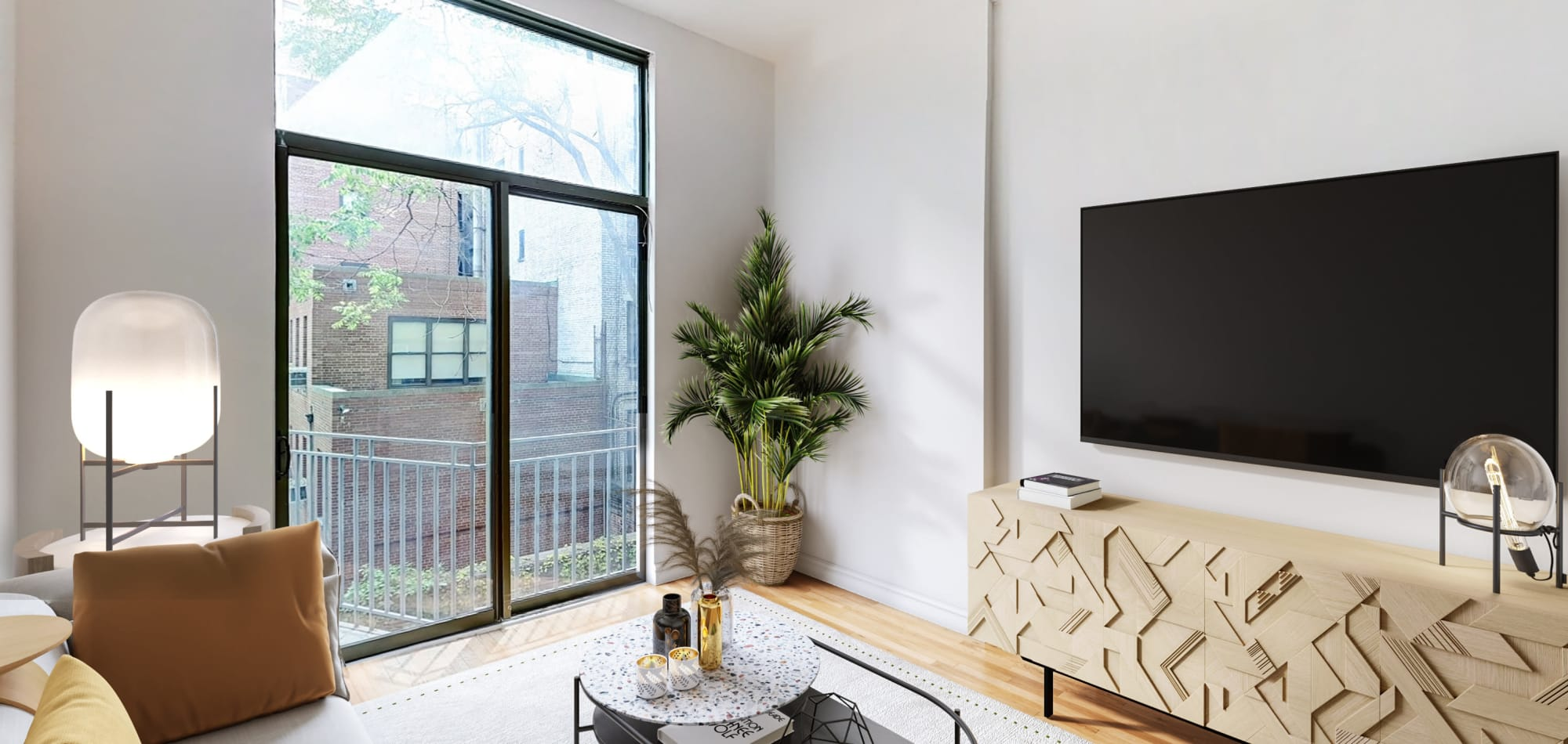 Living area at 210-220 E. 22nd Street in New York, New York