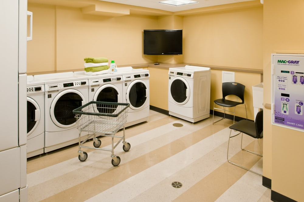 Laundry facility at Camelot Court in Brighton, Massachusetts
