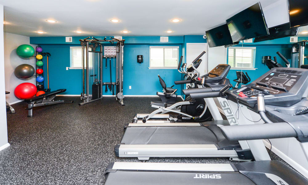 Fitness center at Forge Gate Apartment Homes