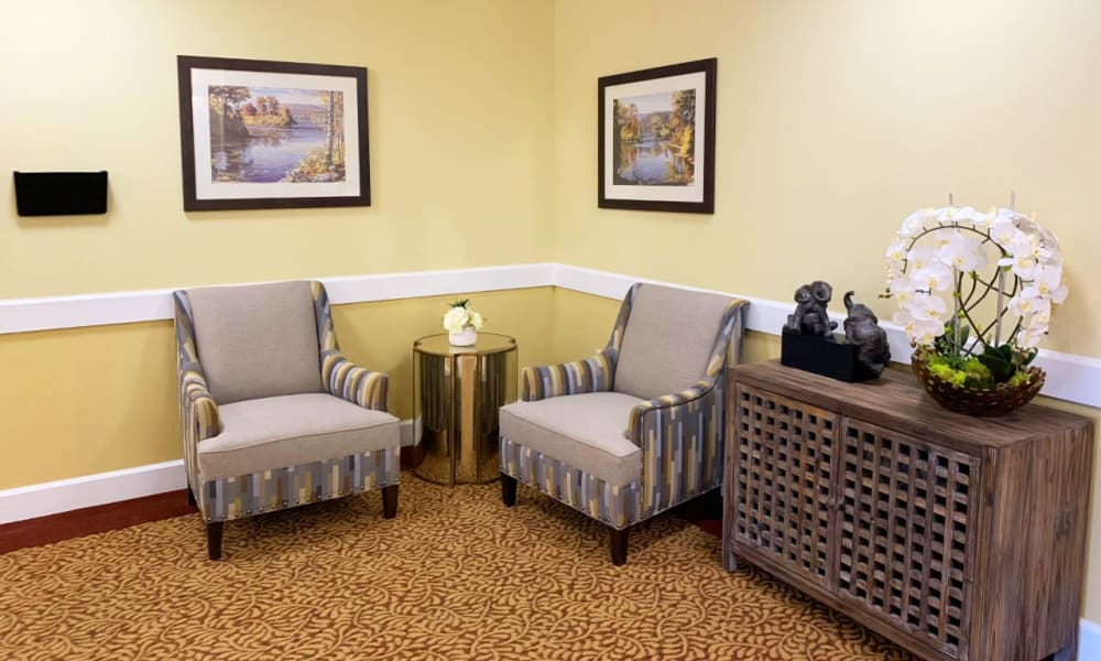 A place to sit at Lassen House Senior Living