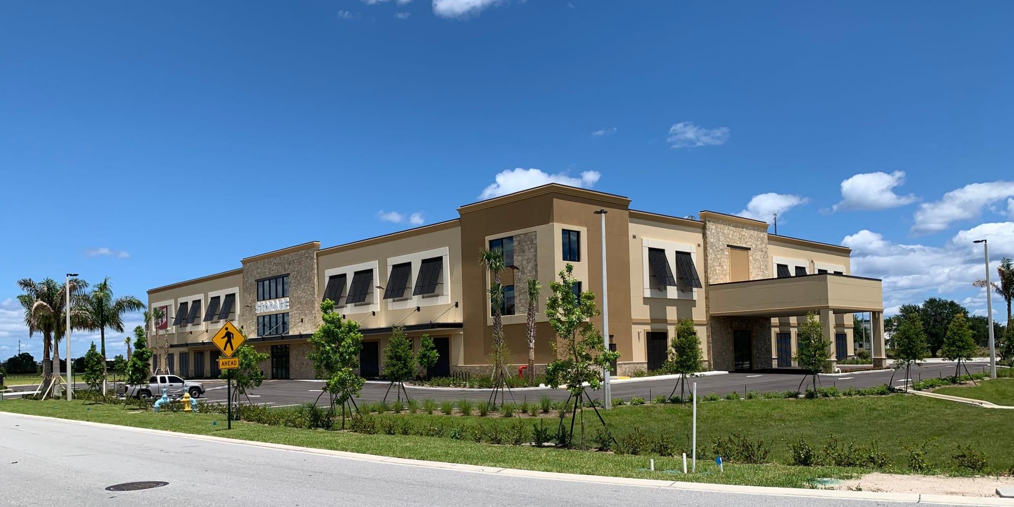 Exterior building of Spacebox Storage in Lake Park, Florida.
