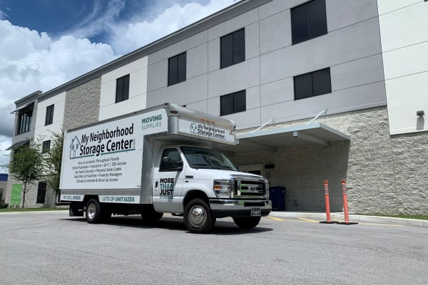 My Neighborhood Storage Center moving truck available in Tampa, Florida