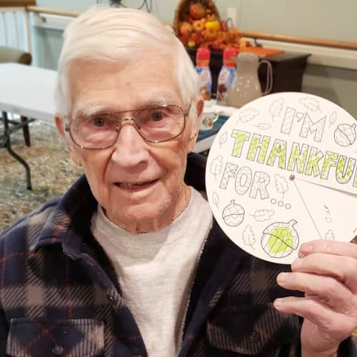 A resident at Canoe Brook Assisted Living & Memory Care in Catoosa, Oklahoma