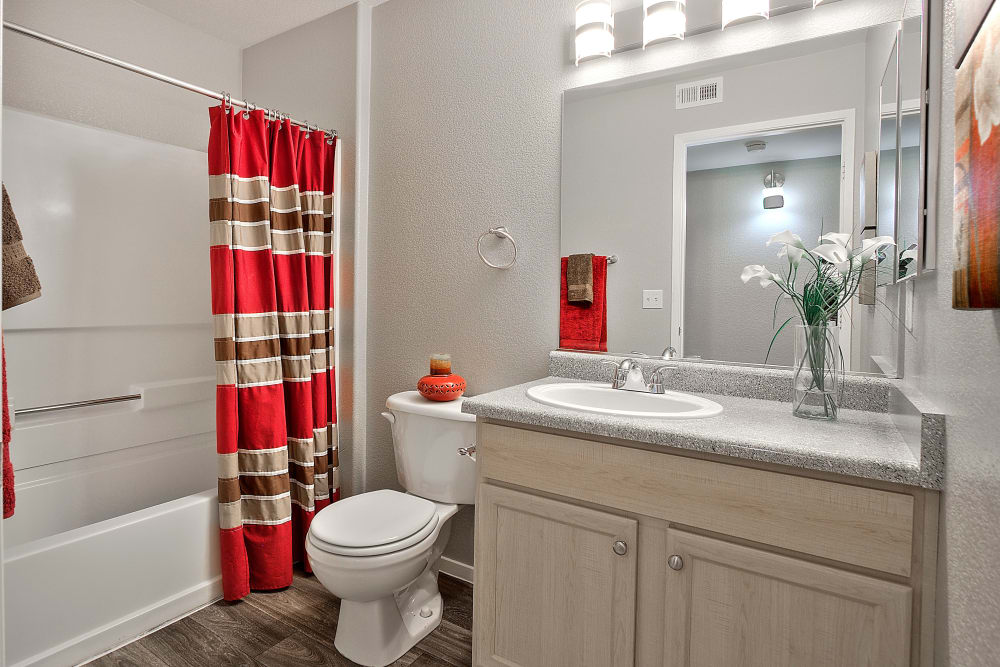 Beautiful bathroom at Cielo Apartment Homes in Henderson, Nevada