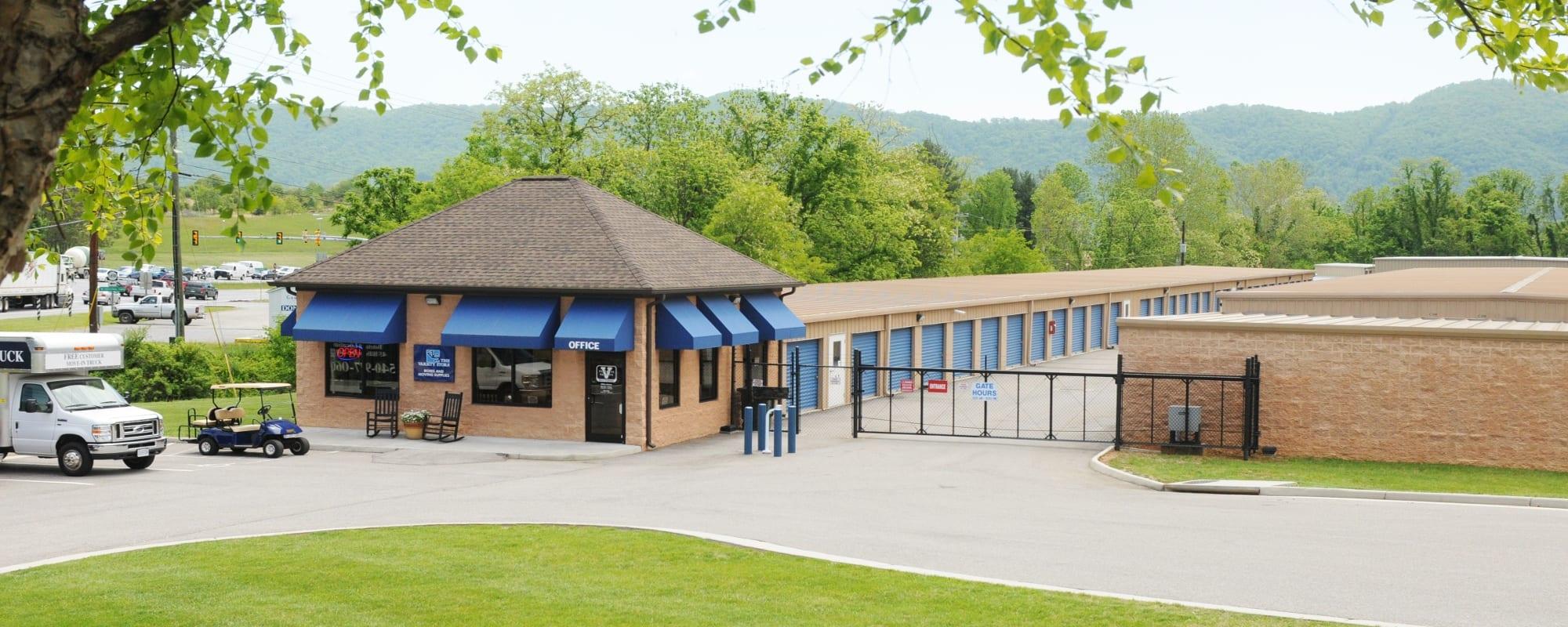 Contact page for Virginia Varsity Storage in Roanoke, Virginia