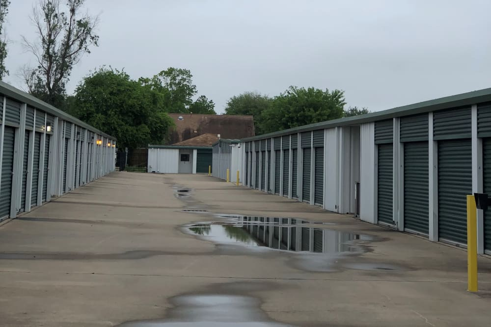 Outdoor storage units at Store It All Self Storage - FM 529 in Houston, Texas