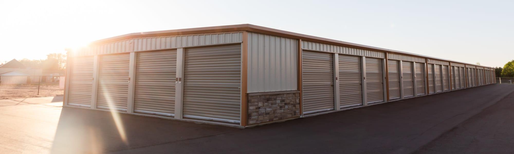 Outdoor storage units at KO Storage in Minnetonka, Minnesota