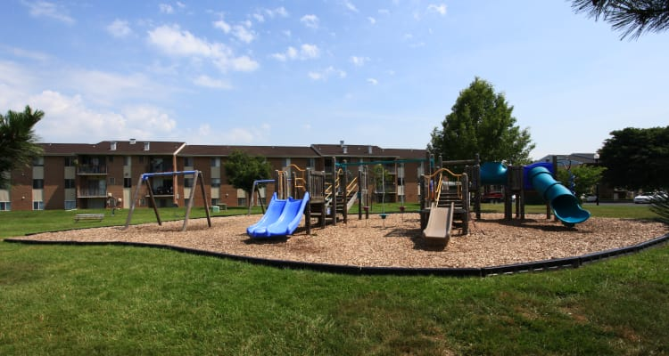 Enjoy little jaunts across the well-maintained grounds of Commons at White Marsh Apartments