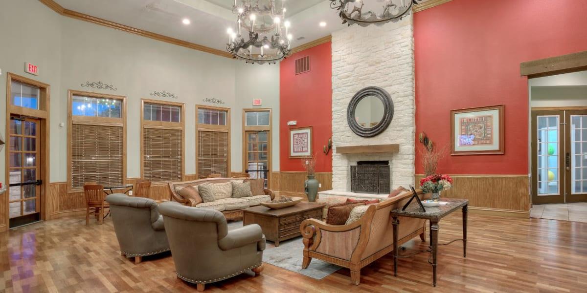 Interior lobby area at Marquis Bandera in San Antonio, Texas