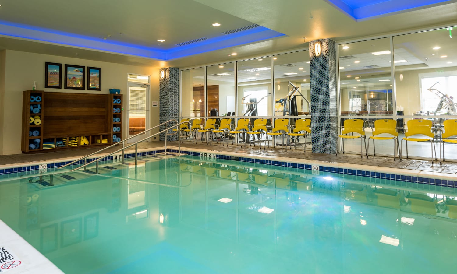 Indoor pool at MacArthur Hills in Irving, Texas