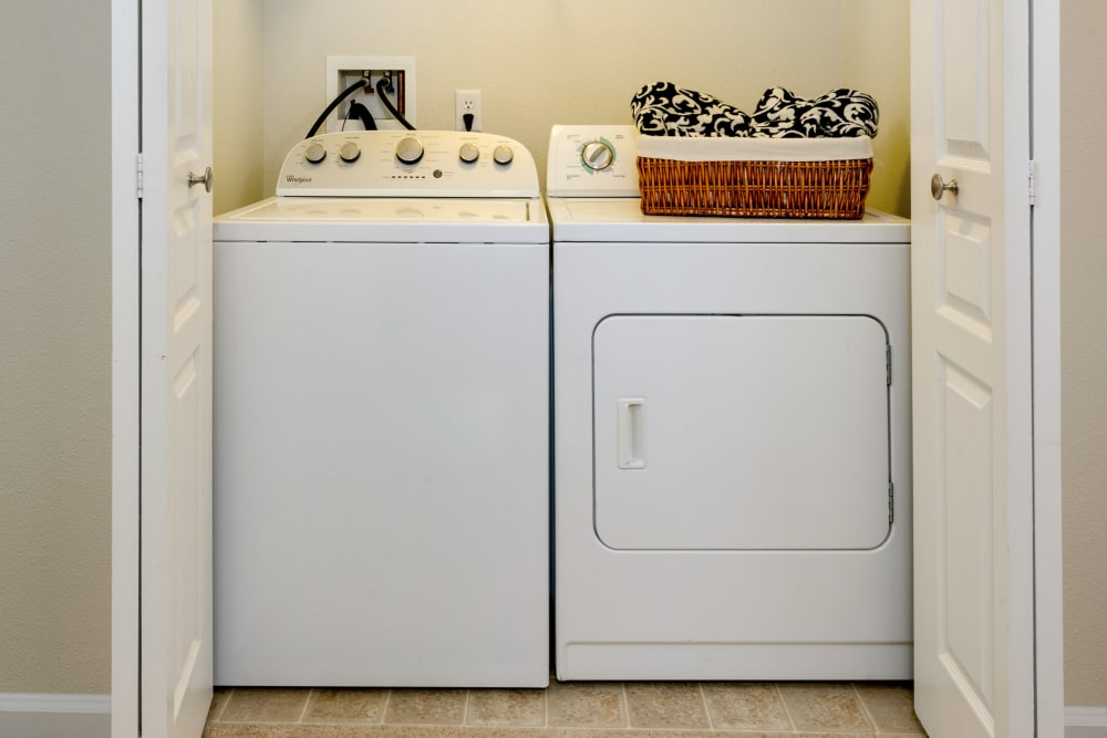 In-unit washer and dryer available at The Artisan Apartment Homes in Sacramento, California