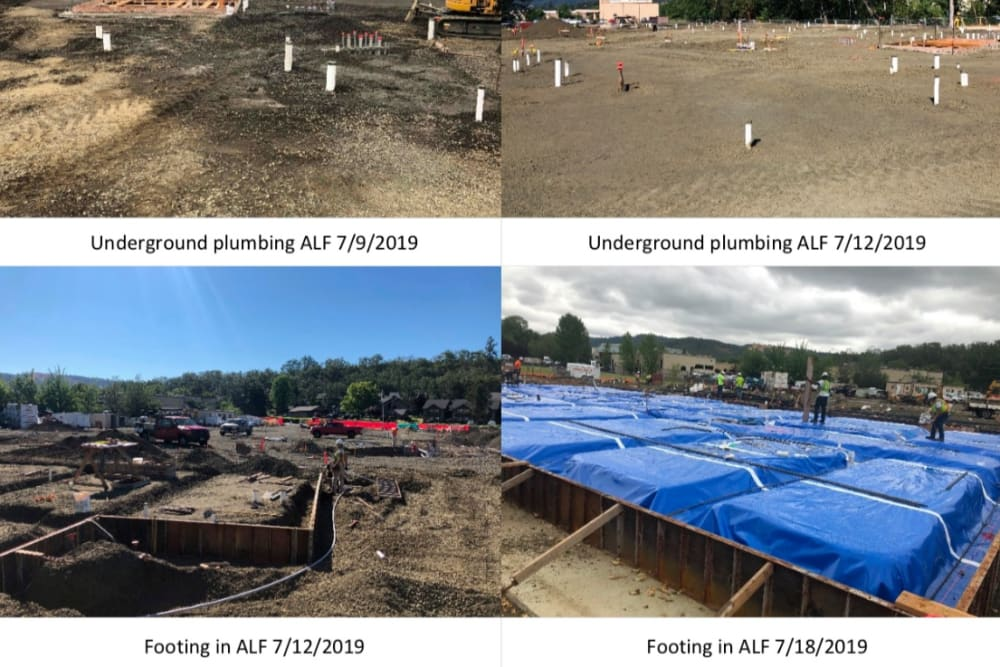 Updated plumbing photos of The Landing a Senior Living Community in Roseburg, Oregon