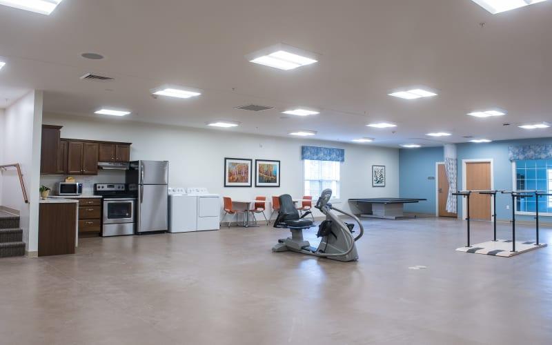 The community fitness room at Grand Plains in Pratt, Kansas