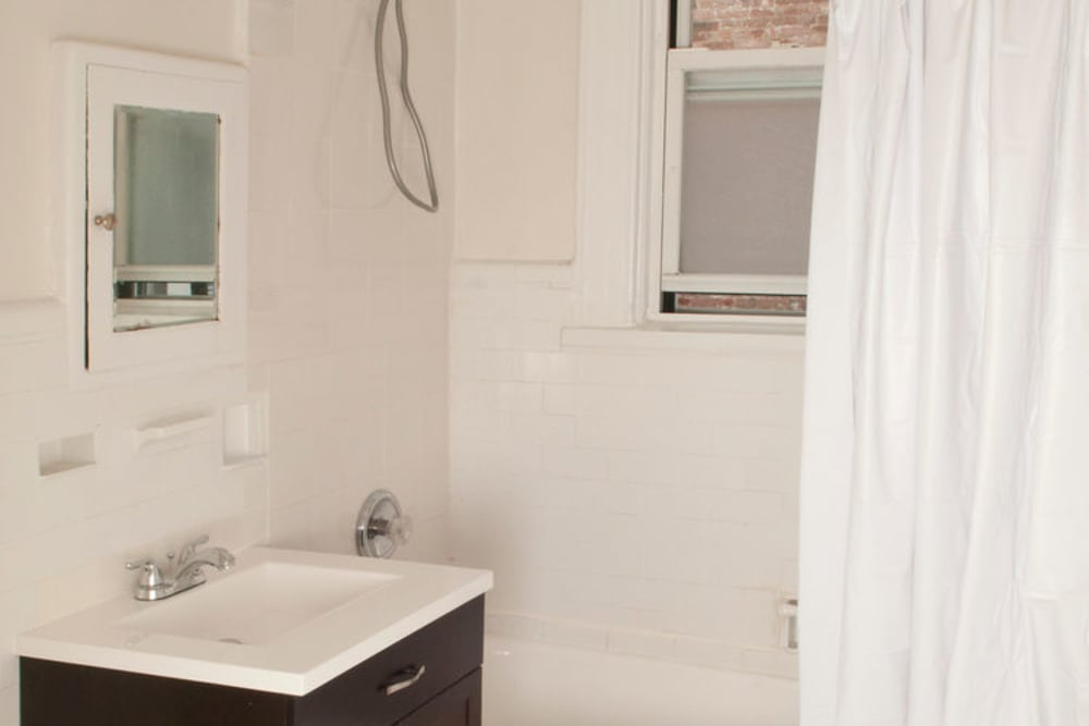 Bathroom model at Murray Apartments in Paterson, New Jersey