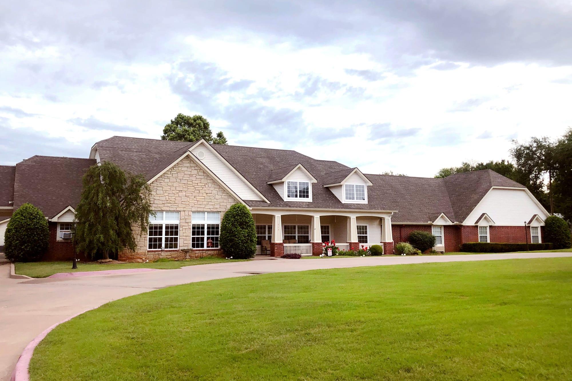 Ashbrook Village entry at Duncan, Oklahoma.