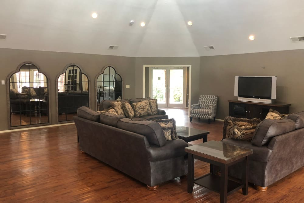 Spacious clubhouse at Westport Apartments in Angleton, Texas