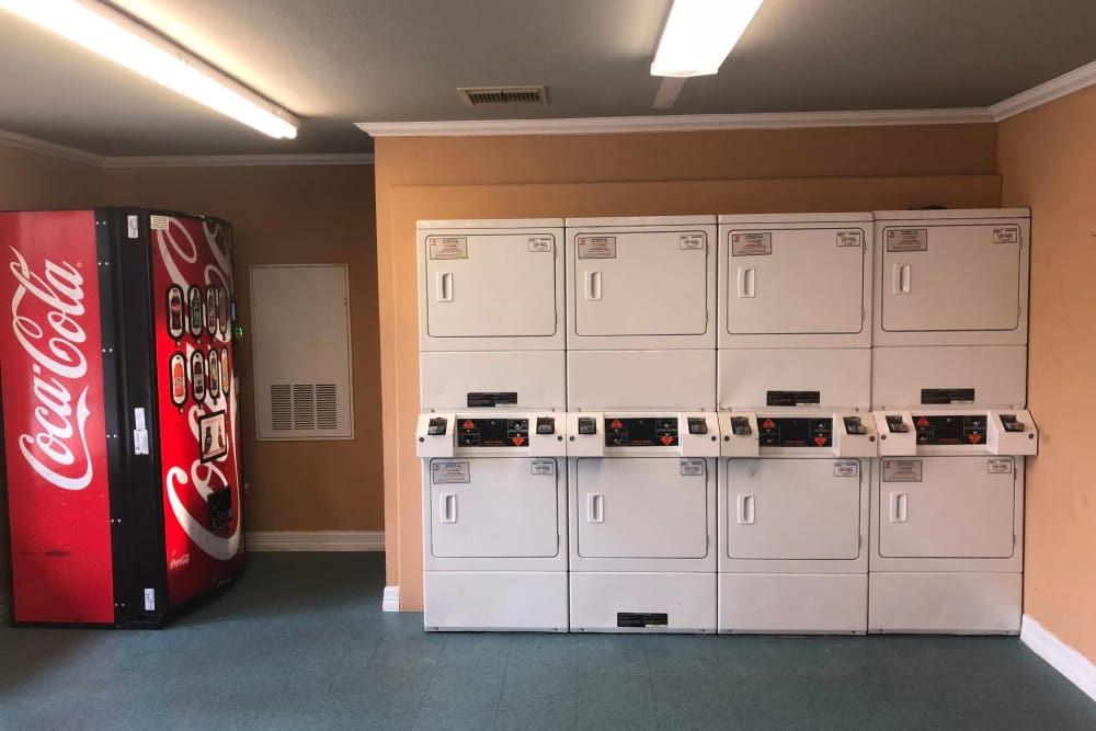 Westport Apartments offers a spacious laundry facility in Angleton, Texas