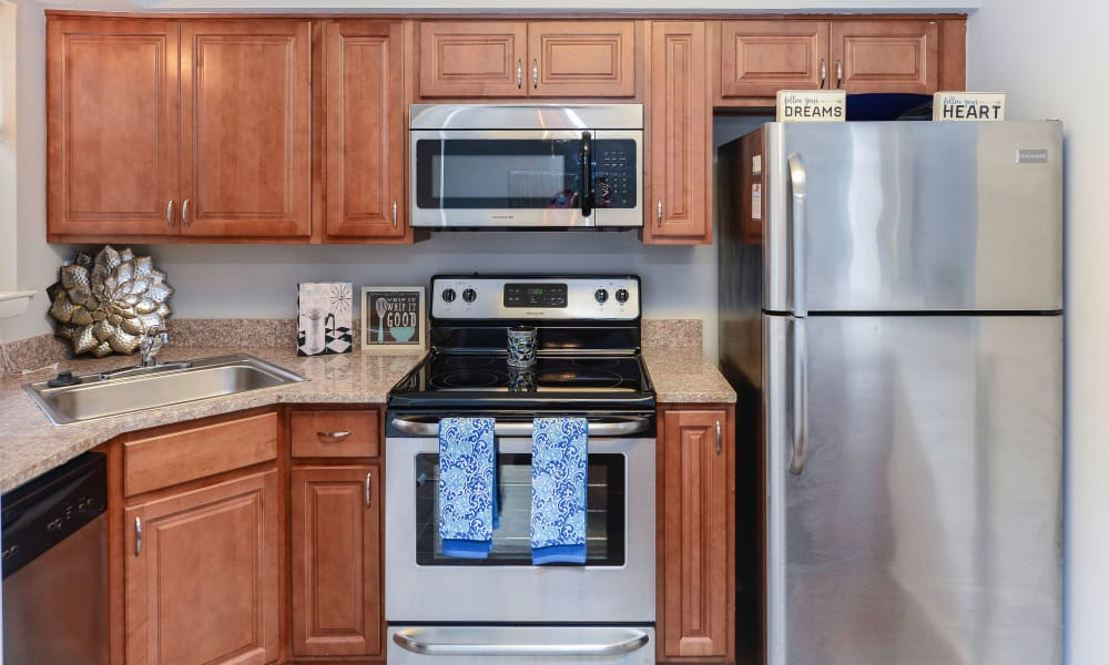 Kitchen featuring all of the appliances needed at Moorestowne Woods Apartment Homes in Moorestown, NJ