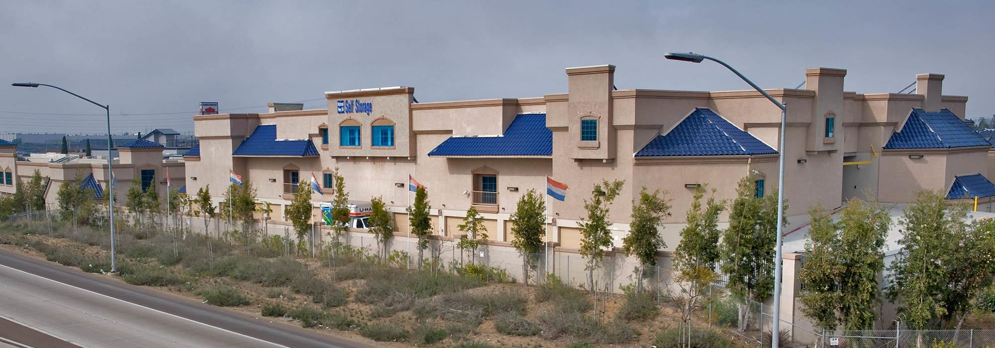 Branding on the exterior of National/54 Self Storage in National City, California