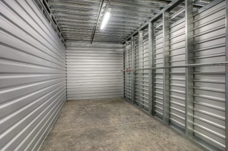 Inside of a unit at StorQuest Express - Self Service Storage