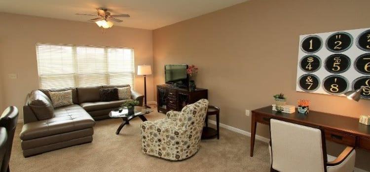 Spacious living room at Preserve at Autumn Ridge