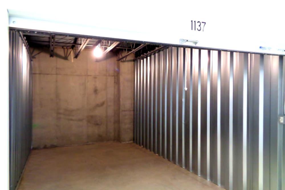 Interior of a unit at Prime Storage in Danbury, Connecticut